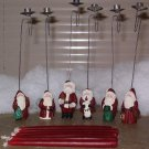 Santa Claus candle holders set of 6 with candles