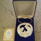 Gorham Parian Medallion Evening Prayer ornament 1977