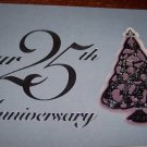 Hallmark Keepsake Ornament 1998 25th Anniversary Silvertone Tree