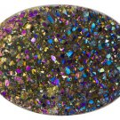 Drusy Quartz 16x12mm Oval, Bi-color Jewelry Television JTV