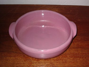 Bybee Pottery Bowl with handles Pink Mauve Kentucky