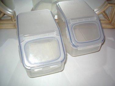 Lock & Lock 21-Cup Flip Top Storage Bins Set of 2