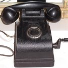 Federal Telephone Radio Corporation Bakelite and Metal Crank Handle Phone