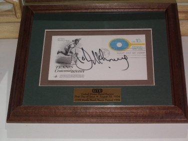 John McEnroe First Day Cover Signed