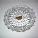"Rossini Crystal Cut Pressed Glass Ashtray 7"" West Germany New old stock"
