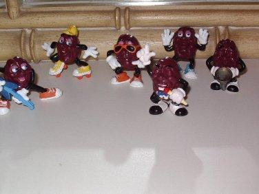 Vintage California Raisins 6 Figures 1988 Calrab Applause Summer