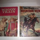 WAGON TRAIN #1 COMIC BOOK GOLD KEY 1963 & DELL BEN BOWIE & HIS MOUNTAIN MEN 1956