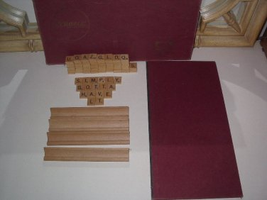 VINTAGE SCRABBLE CROSSWORD BOARD GAME 1976 SELCHOW & RIGHTER WORD 100 TILES