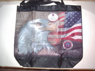 National Veterans Foundation Eagle FLAG Tote Bag Shopper Serving our Veterans