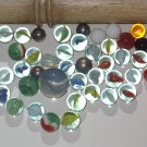 Marbles from estate sale Counted 41 that are glass or metal