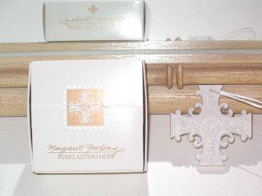 Margaret Furlong Everlasting Hope Cross Porcelain Ornament Single Boxed Issued 1999
