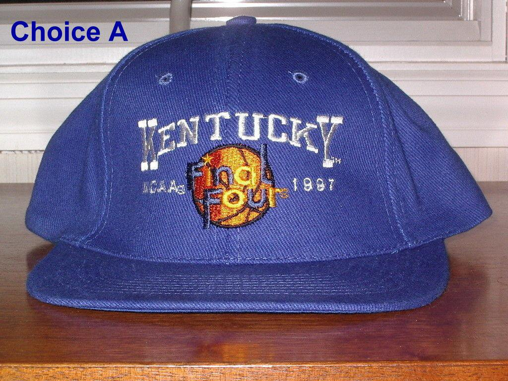 KENTUCKY NCAA FINAL FOUR 1997 on front Embroidered onto cap.