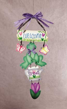 "34188 ""welcome Spring"" Wooden Wall Plaque"