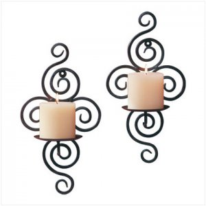SCROLLWORK CANDLE SCONE    32402