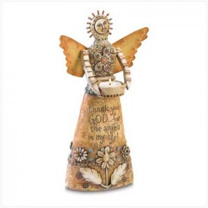 CRAFTED ANGEL TEALIGHT HOLDER      38472