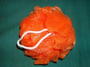 Shower puff, orange