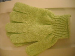 Exfoliating Spa Gloves, pale lime