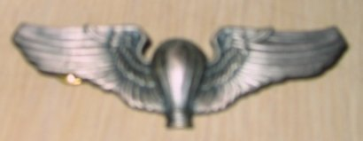 USAF Balloon Pilot Silver Wing Badge