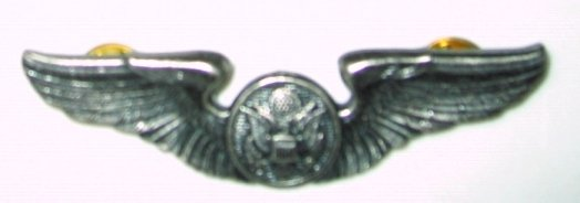 Official USAF Aircrew Member Silver Wing Badge Hallmarked