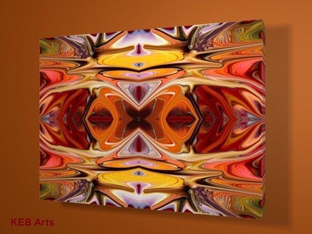 Autumn Forest Digital Abstract Art Print on Canvas