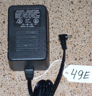 AC/DC Adapter model MKD-48752100 7.5V 2100mA delivered $11