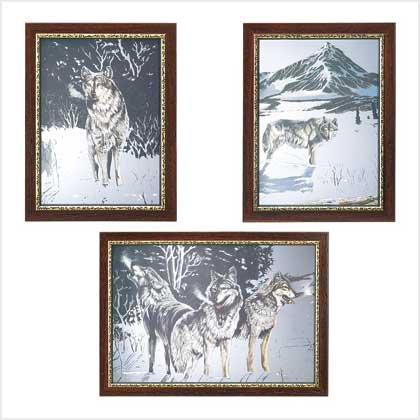 Winter Wolves Mirror Set