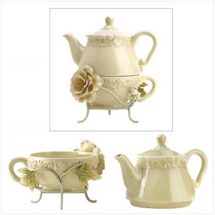 Victorian Peony Tea For One Set