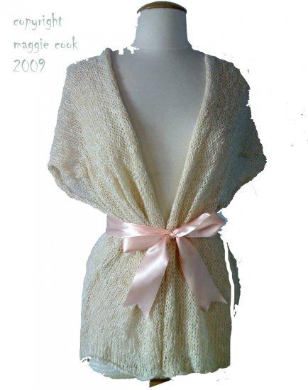 stunning UK designer knitted shrug...