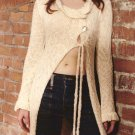 Stunning made to measure hand dyed  cotton double knit cardigan