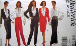 B3015 New Sewing Pattern for Misses' Wardrobe of Jacket Blouse Pant Skirt in Size 6 8 10