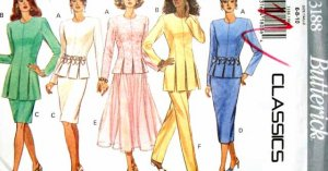 B3188 New Sewing Pattern Miss CarWash Hem Top 2 Length Pant Straight or Flared Skirt Size 6 8 10
