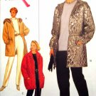 B3698 New Sewing Pattern Misses' Hooded Coat or Jacket with Waist Channel Elastic Cuff Size 6 8 10