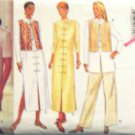 B3938 New Sewing Pattern Miss' Ethnic Layered Artistic Style Vest Dress Tunic Skirt Pant Size 6 8 10