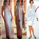 B4033 New Sewing Pattern Dramatic Flowing Draped Jacket Formal Evening Gown Sheath Size 6 8 10
