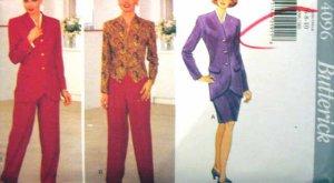 B4096 New Sewing Pattern Tulip Jacket Weskit Pants & Skirt Wardrobe Mix & Match Size 6 8 10