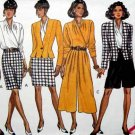 B6281 New Sewing Pattern Miss Wardrobe Car Wash Hem Jacket Top Skirt Culottes Wrap Top 6 8 10