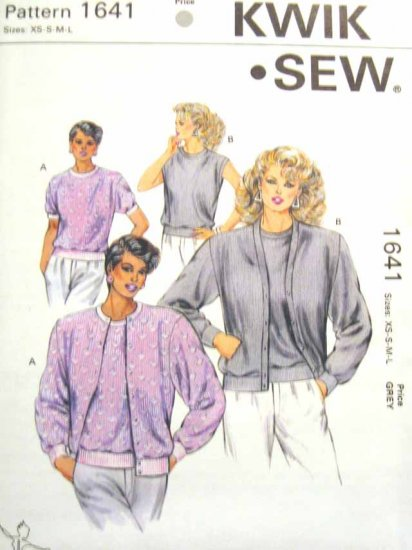 K1641 New Sewing Pattern Ladies' Misses' Knit Twin Set Cardigan sweater Top Size XS S M L