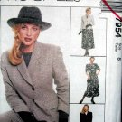 M7954 New Sewing Pattern Misses' Suit Wardrobe Fitted Jacket Top Pant Skirt Size 8