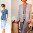 V9250 New Sewing Pattern Misses' Vogue Wardrobe Jacket Weskit Skirt Pant Size  8 10 12