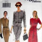 V9301 New Sewing Pattern Misses Vogue Fitted Peplum Suit Jacket Skirt Size 6 8 10
