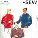 K1927 New Sewing Pattern Men's Knit Sweater Shirt Size S M L XL