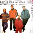 M7409 Sewing Pattern Ladies' Mens' Teens' Unisex Jacket Pants Top Headband Easy Knit Small