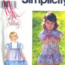 S9565 New Sewing Pattern Kid Girl Dress Ruffle Size 1/2, 1, 2
