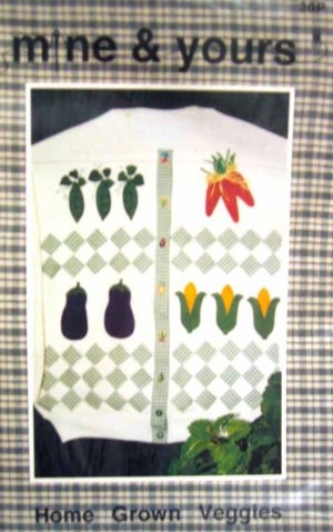 30P New Sewing Pattern Garden Vegetable Theme to Applique or Quilt on Clothing & Household Items