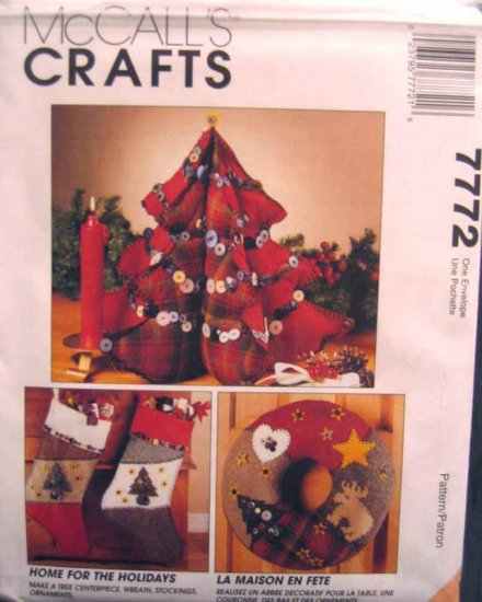 M7772 New Sewing Pattern Holiday Christmas Xmas Patchwork Button Creative Quilted