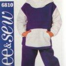 B6810 New Sewing Pattern Child Boy Kangaroo Pocket Hoodie Jacket Athletic Pants Size 1 2 3