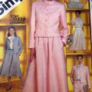 S5834 Sewing Pattern Career Wardrobe Suit Dress Top Size 10
