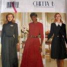 B4232 Sewing Pattern Long Sleeve A Line Dress 6 8 10
