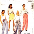 M7496 McCall's Sewing Pattern Pants Shorts 6 8 10