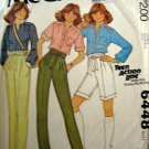 M6448 Sewing Pattern Top Pant Short Junior Teen Size 9 10